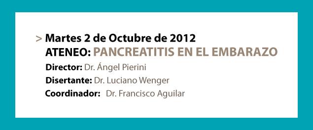 ATENEO: Pancreatitis en el embarazo