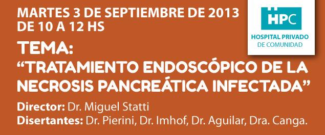 Tratamiento endoscópico de la necrosis pancreática infectada