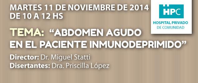 Abdomen agudo en el paciente inmunodeprimido