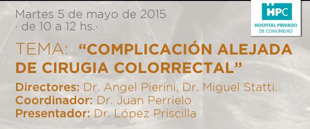 Complicación alejada de cirugia colorrectal
