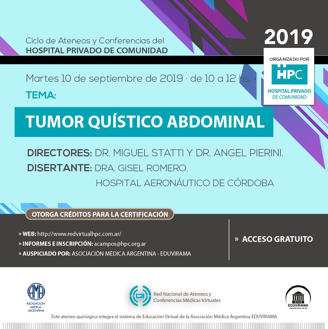 Tumor quístico abdominal