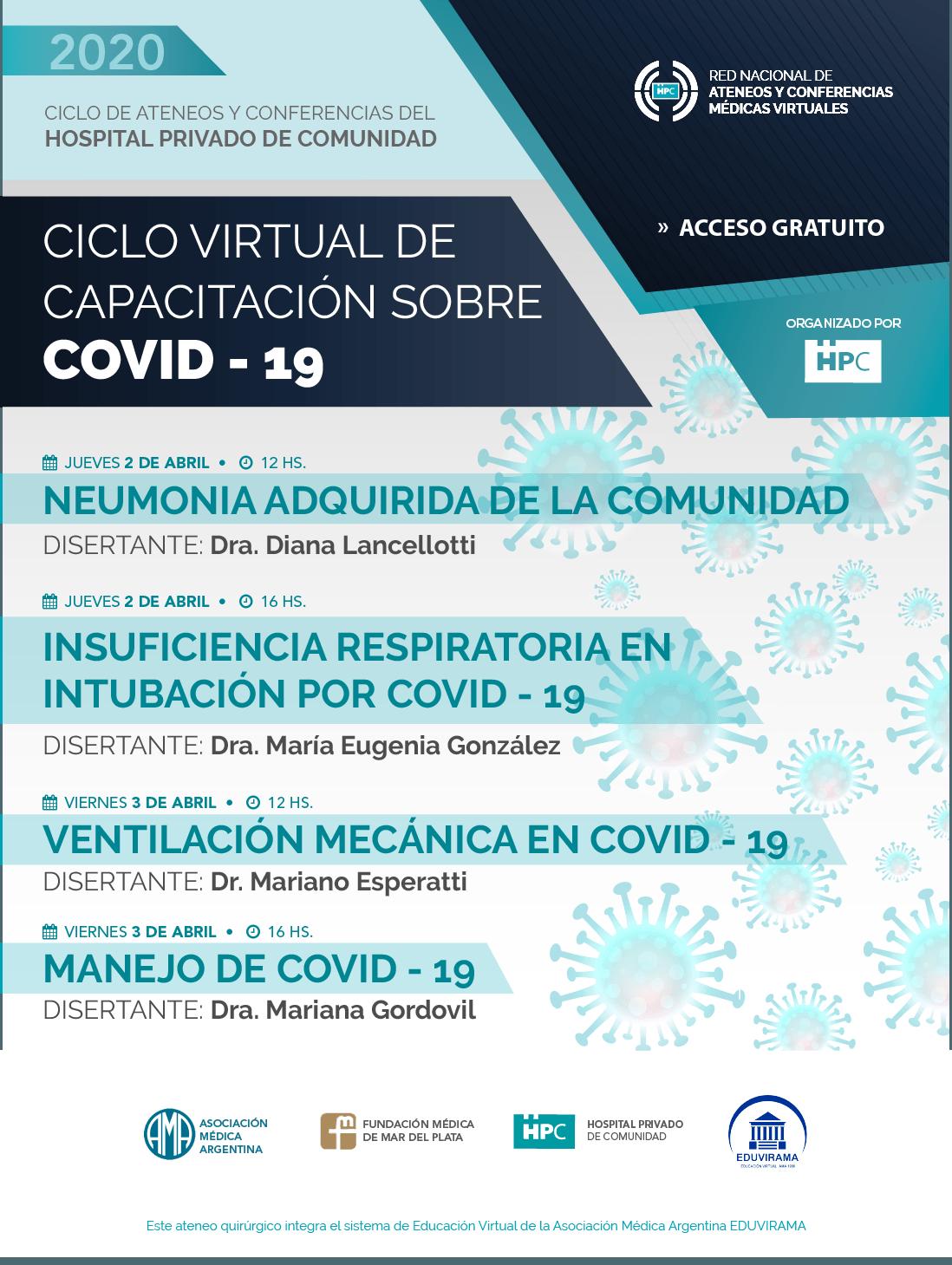 Ciclo Virtual de Capacitación sobre Covid – 19