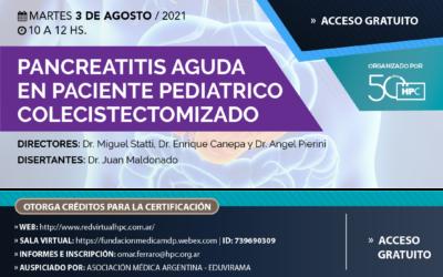 Pancreatitis aguda  en paciente pediátrico  Colecistectomizado