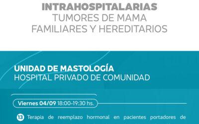Jornadas Virtuales Intrahospitalarias Tumores de Mama Hereditarios y Familiares